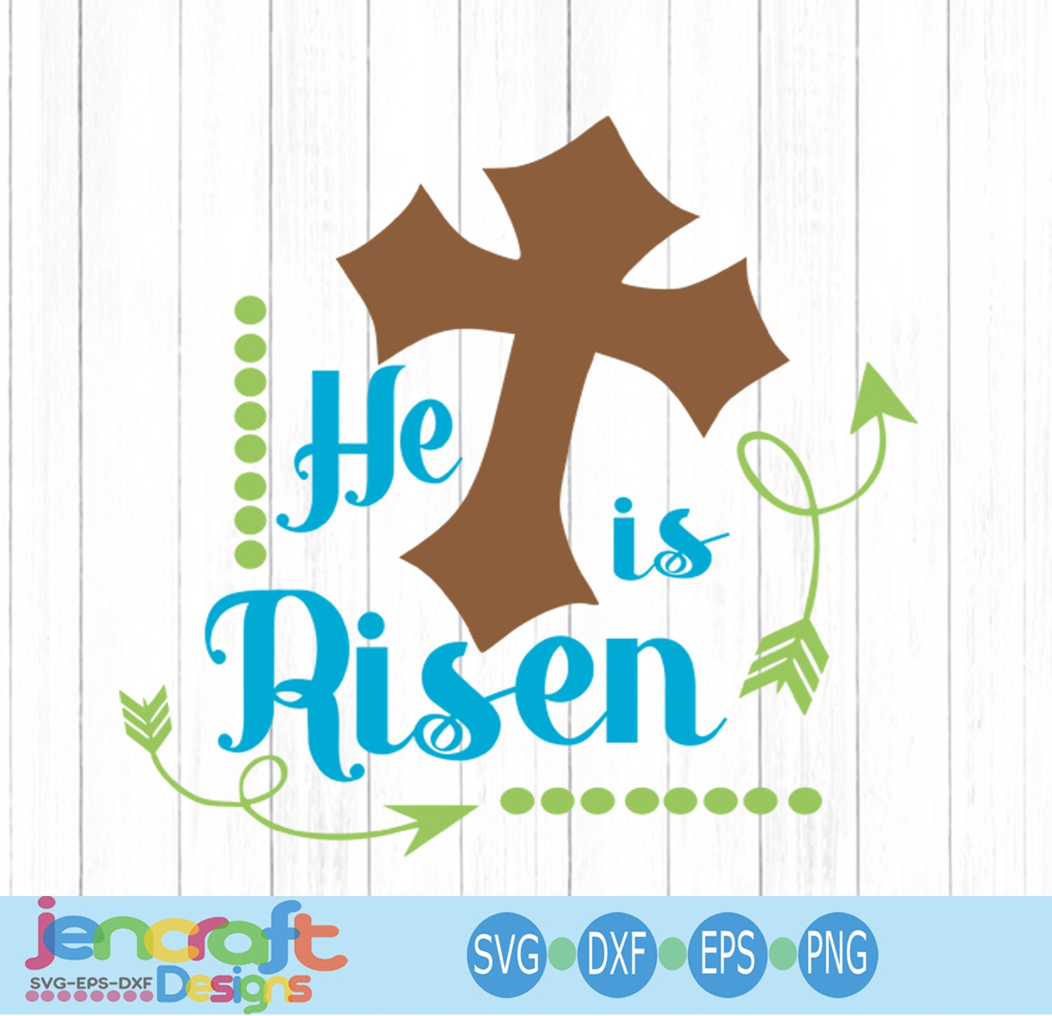 Christian Easter Svg He Is Risen Svg Christian Svg Jesus Svg Eps Dxf Png Svg Files For Cricut Cut Files For Silhouette Instant Download
