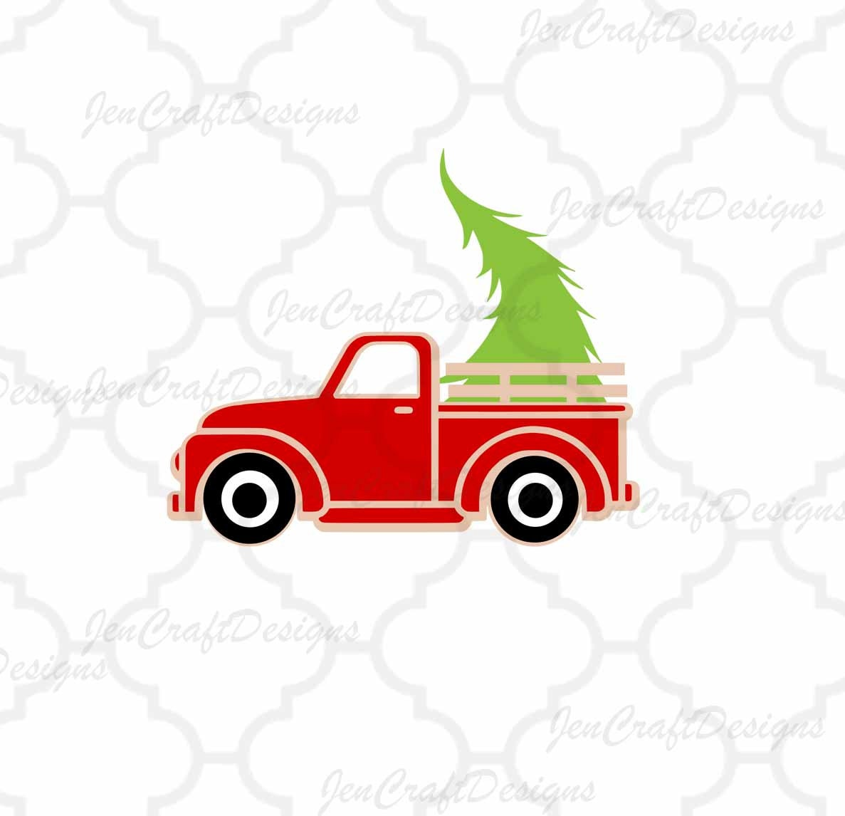 Christmas Truck Svg.Christmas Truck Svg Antique Truck With Tree Svg Vintage Svg