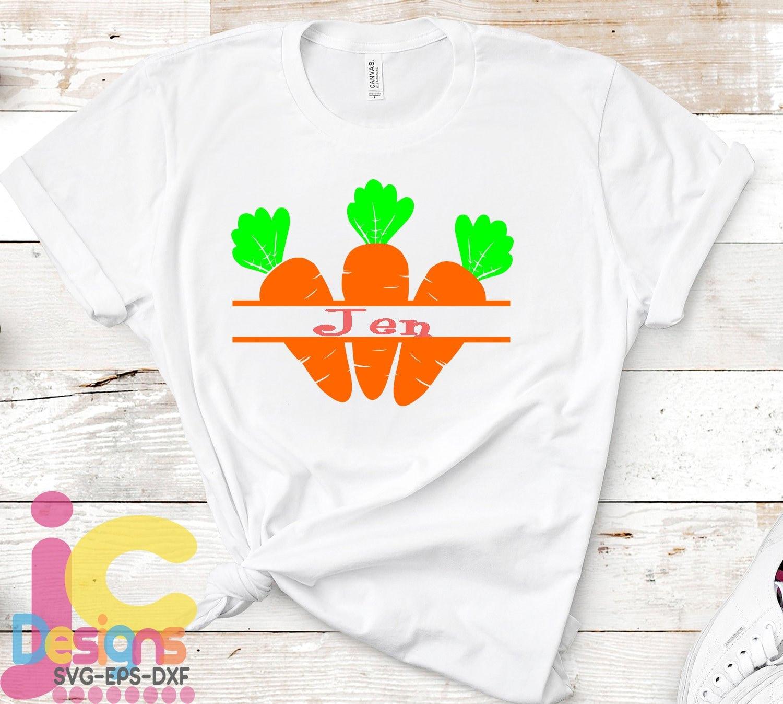 34743dc1622e8 Easter svg, Carrot Split Monogram svg Easter Carrots, Spring, Bunny ...