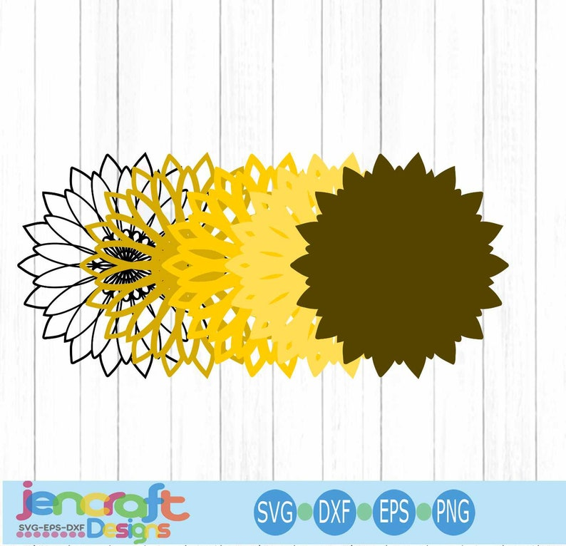 Download Sunflower SVG 3D Mandala Layered Mandala svg Cricut   Etsy