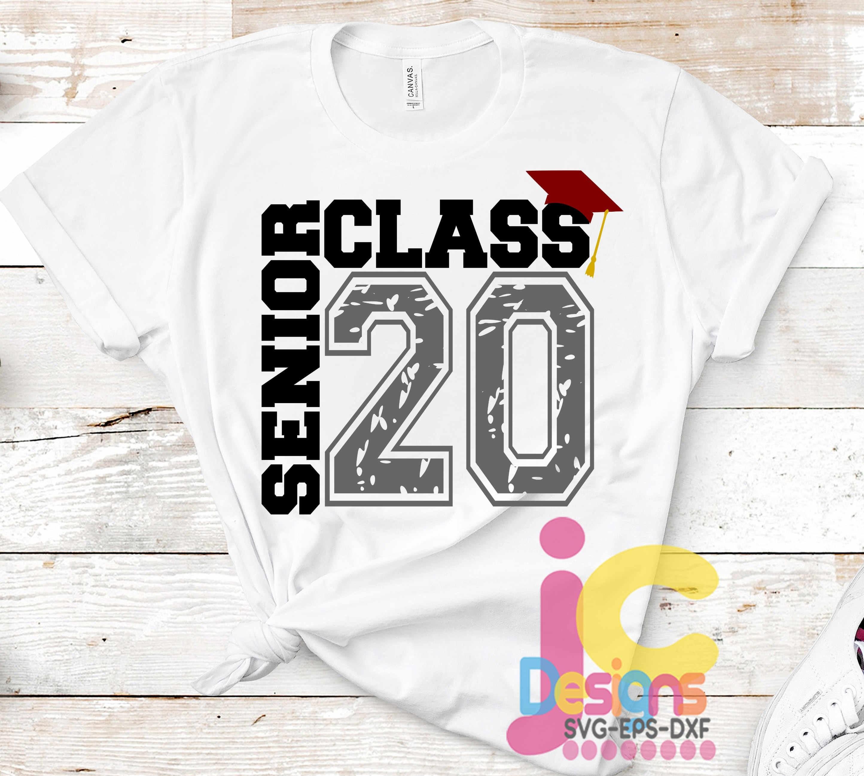 Senior Class Of 2020 Svg Distressed Grunge Graduation Svg Etsy