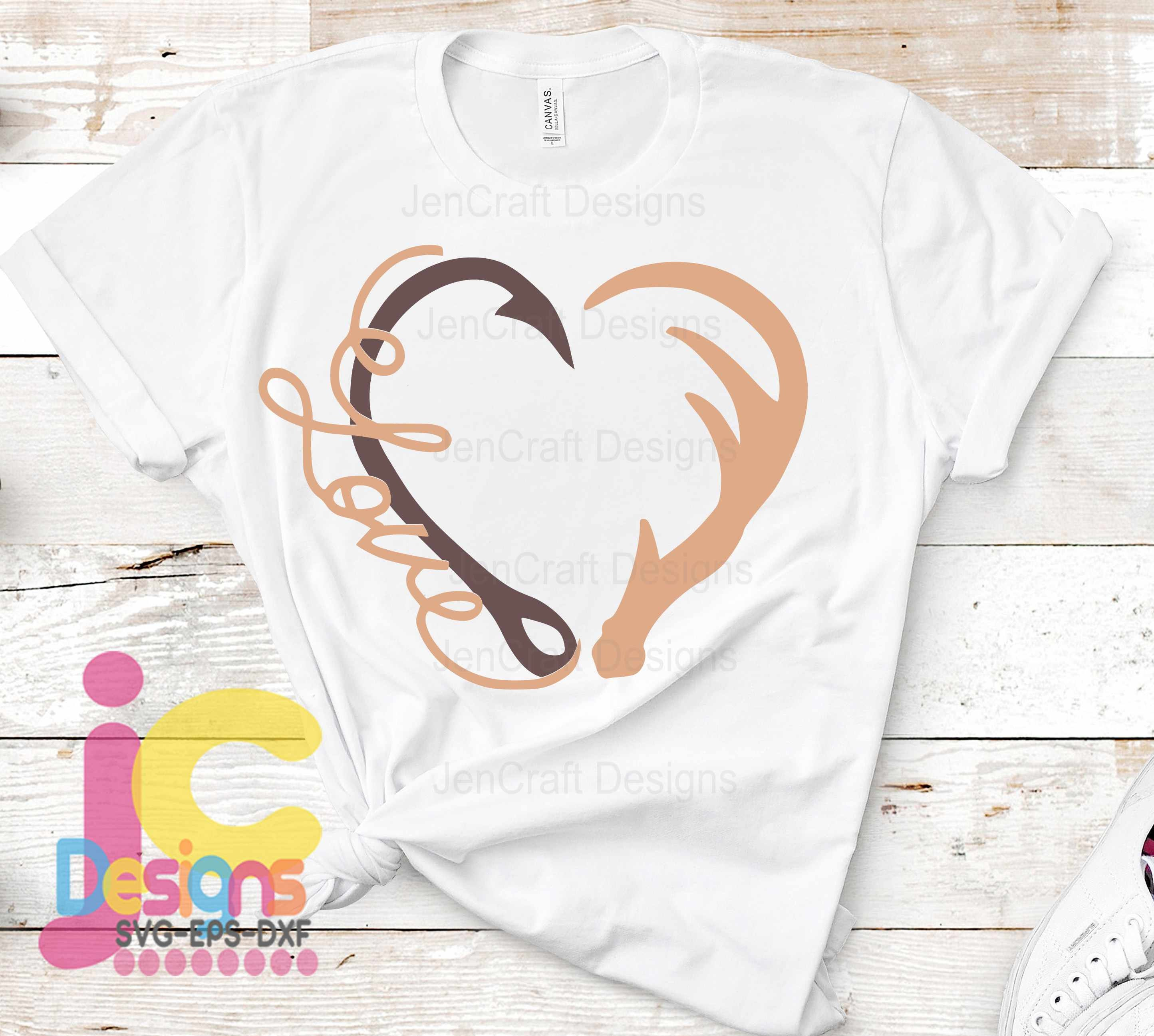 Free Choosing gifts can be difficult. Love Interlocking Hook And Antler Svg Heart Fathers Day Dad Hunting Fishing Svg Eps Dxf And Png Sublimation Cricut And Silhouette SVG, PNG, EPS, DXF File