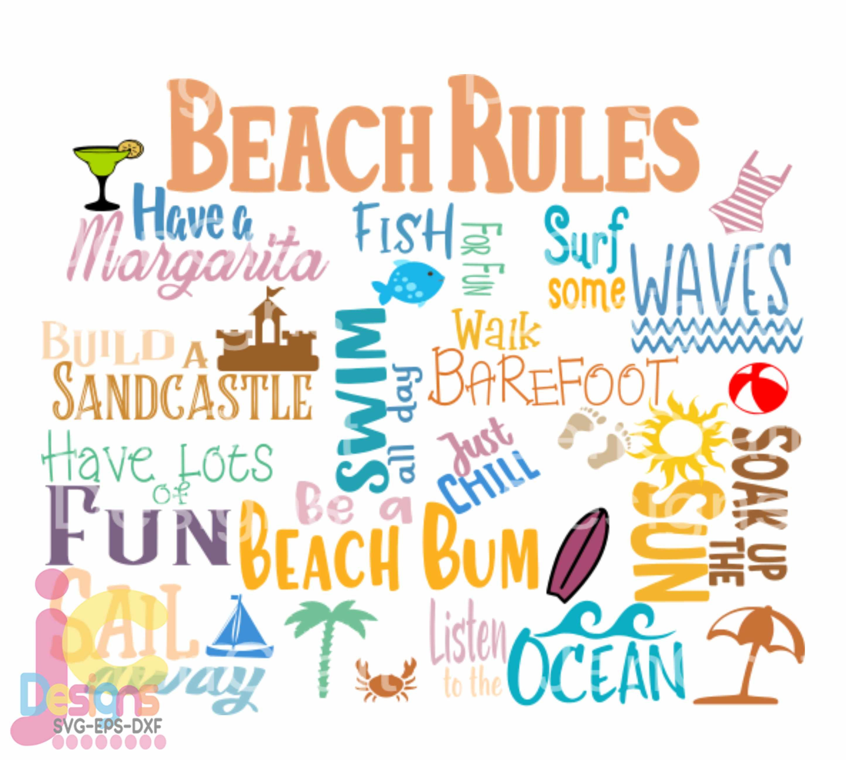 Summer Svg Beach Rules Svg Beach House Rules Beach Svg Summer Cut File Rules Svg Make Memories Svg Cut File In Svg Eps Dxf Png