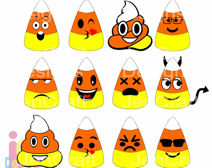 Halloween svg Candy Corn SVG, Eps, DXF, Printable Clipart Png, Cute Kids Cut file Bundle, Silhouette, Cricut, shirt design Trick or treat