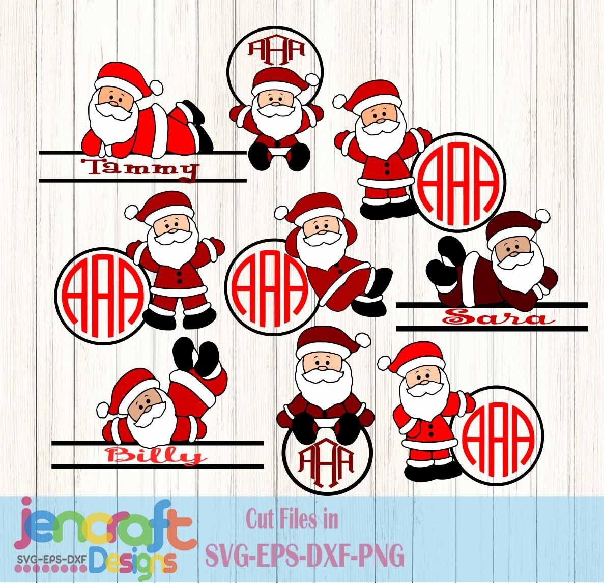5202e4ae692ee Santa Monogram Frames SVG