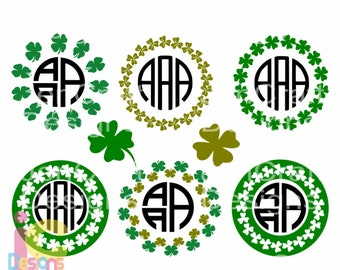 St Patricks day svg Shamrock SVG Monogram Frame SVG St Paddy's Day St. Patrick's Day Leprechaun svg Cut Design,svg dxf png Silhouette Cricut