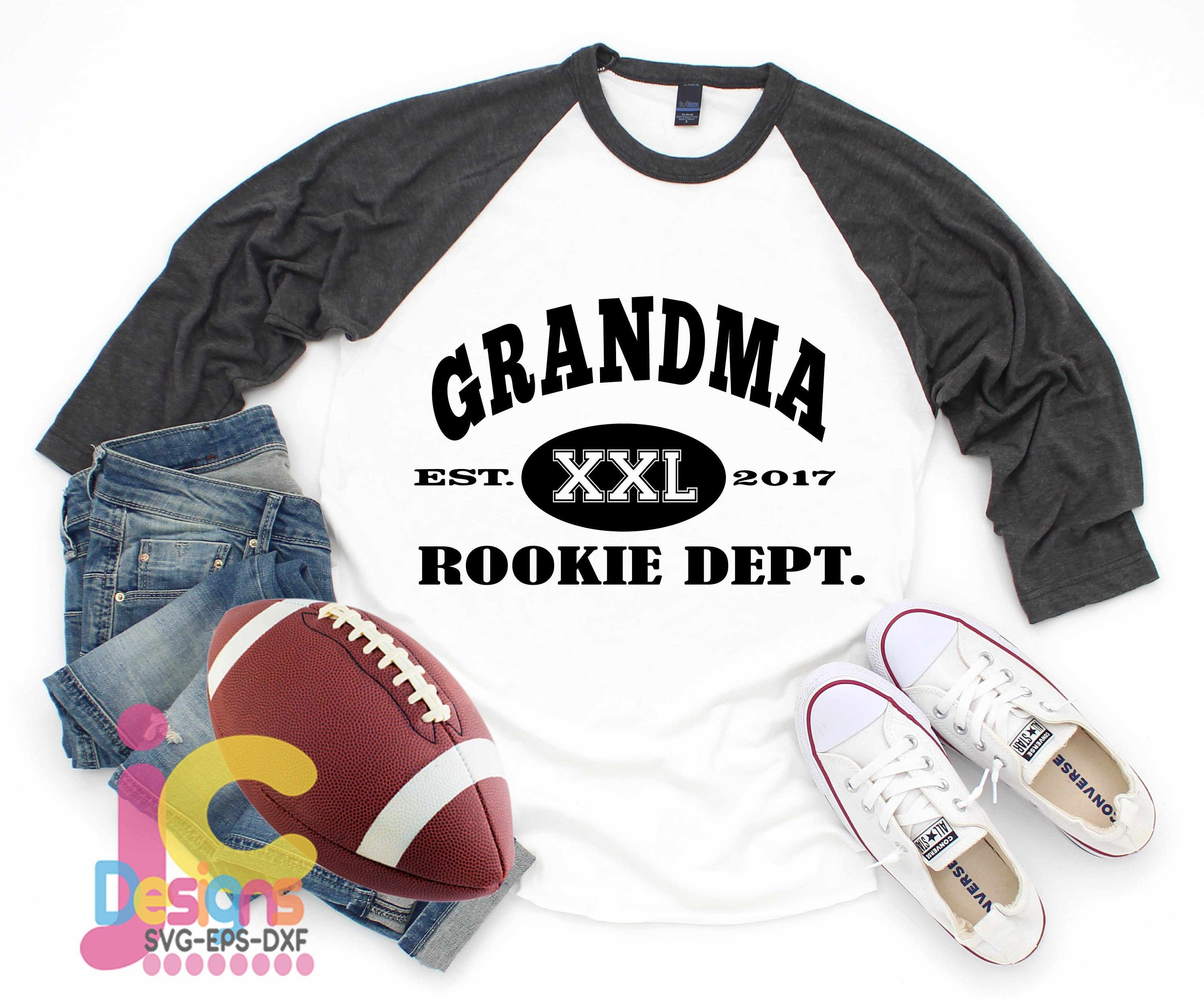 Free Cricut, silhouette and svg compatible files. New Grandma Rookie Dept Football Svg Mothers Day Svg Est Shirt Nana Svg Dxf Eps Printable Png Vector Art Cricut Files Silhouette SVG, PNG, EPS, DXF File