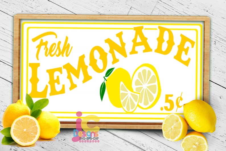 fresh Lemonade SVG lemonade stand sign art Cut file Sublimation Print Summer svg Cricut Silhouette SVG Eps Dxf Png Lemon Svg