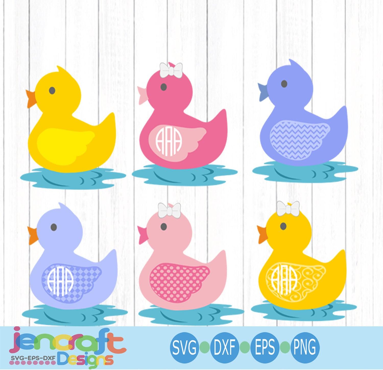 Rubber Duck Svg Easter Spring Svg Monogram Frame Svg Nursery