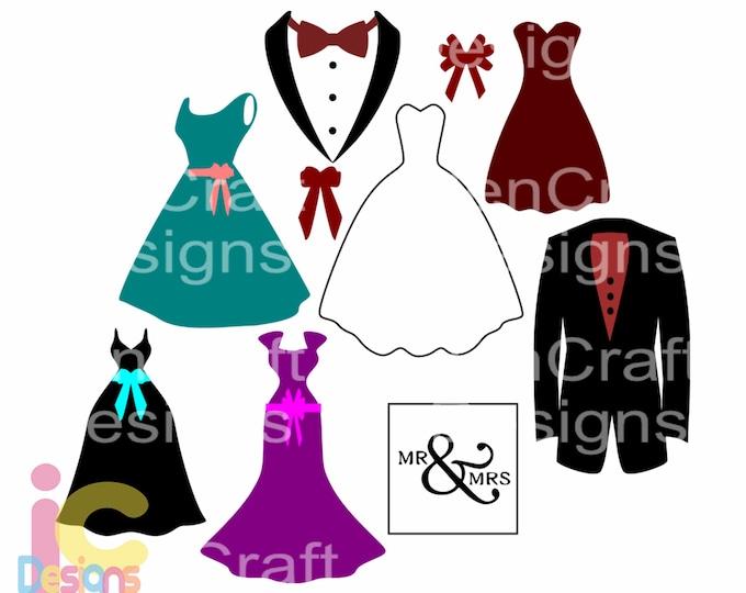 Wedding svg Bride Groom svg Wedding Party, Bridesmaid SVG, DXF, eps, png Cutting Machines Cameo, Cricut Bride svg, Bridesmaid svg, Printable