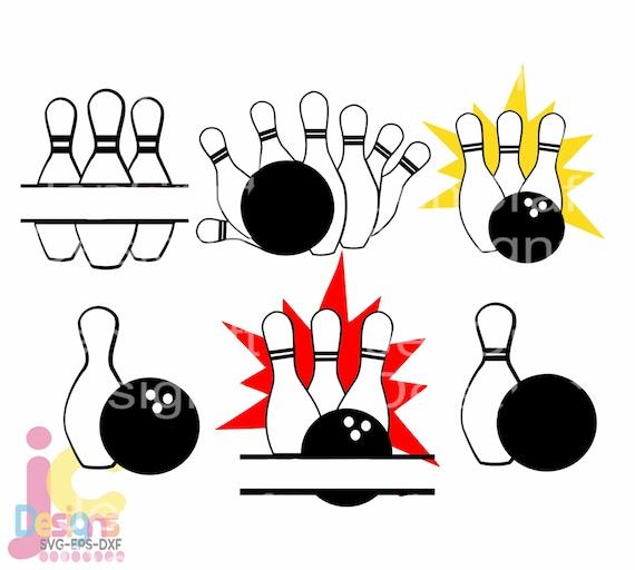 Bowling Svg Bowling League Team Monogram Svg Bowling Pin Etsy