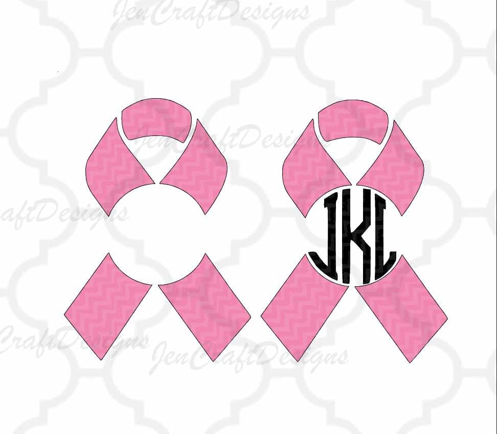 Awareness Ribbons Svg Cut Files Personal Monogram Frame Svg Dxf Eps Png Cutting Machines Like Cricut Design Space And Silhouette Studio