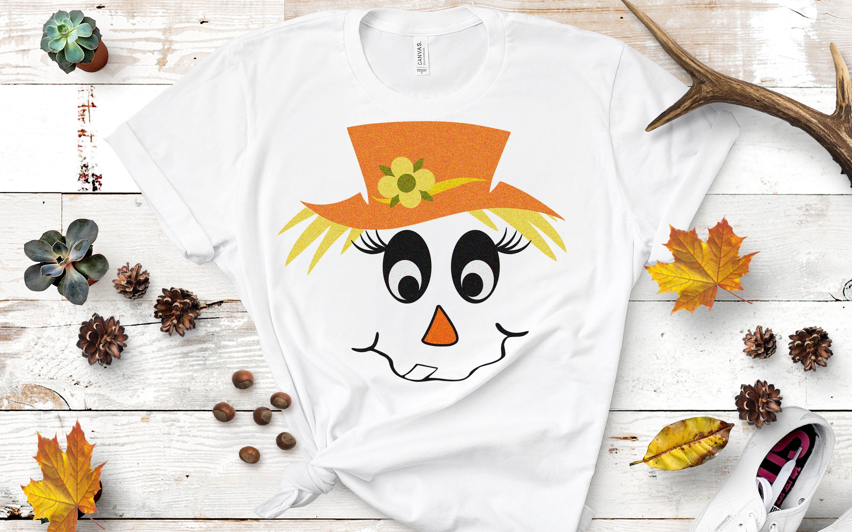 Scarecrow Svg Scarecrow Face Svg Lady And Man Face Svg Boy Girl Thanksgiving Svg Fall Autumn Halloween Svg Digital Cut File Dxf Eps Png