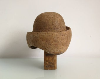 d254c2c9 Wooden Hat Mold - Solid Block Hat - Woman Hat Form - Soviet Hatmakers Tool  - Woman Hat Shape -Millinary Supply
