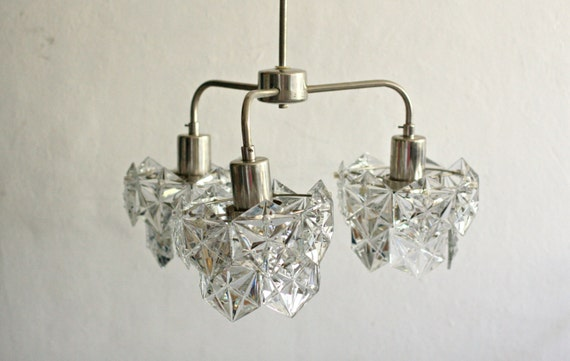 2 Small Crystal Prism Pendant Chandeliers Vintage and well made