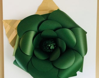3d Paper flower on Canvas