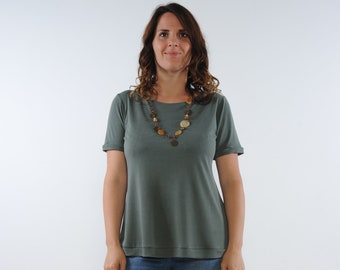 Short Sleeves Floaty Top