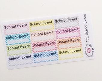 T72 || 12 Chevron School Event Stickers