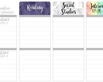 K01 || Custom Kaleidoscope Teacher Planner Header Stickers