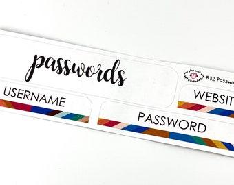 R32 || Retro Passwords Log Stickers