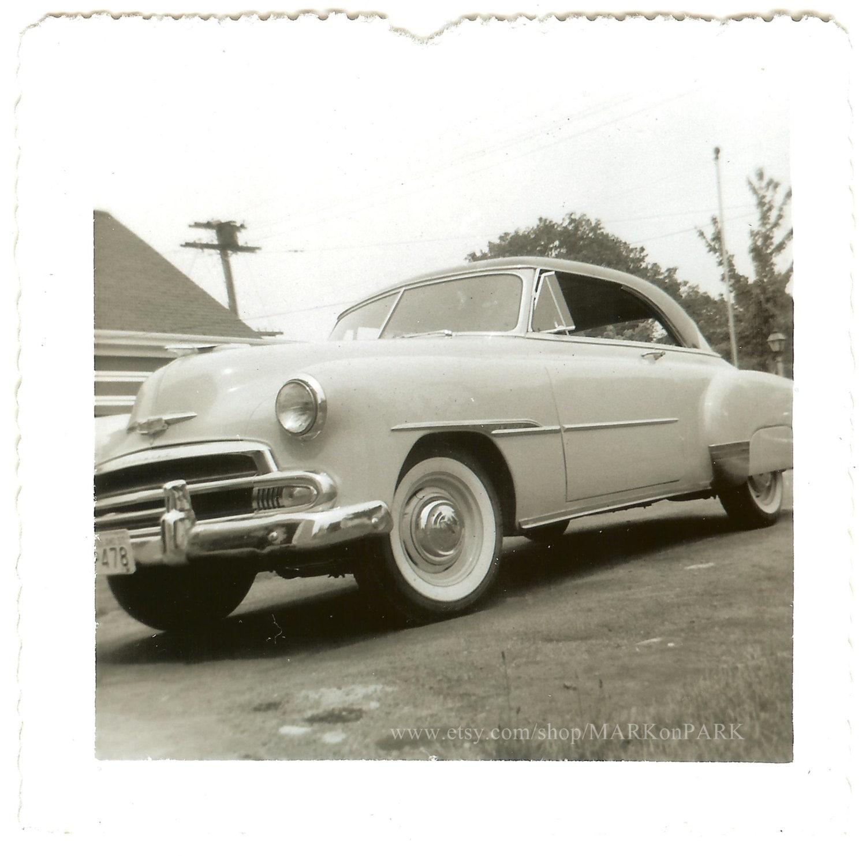 1951 Chevrolet Bel Air 1950s Est Vintage Photo Old Etsy Police Car Zoom