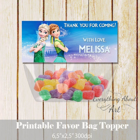picture relating to Printable Bag Toppers identified as Frozen, Frozen desire bag topper, Frozen birthday toppers, Frozen printable bag topper, Elsa and Anna bag toppers, Frozen thank yourself toppers