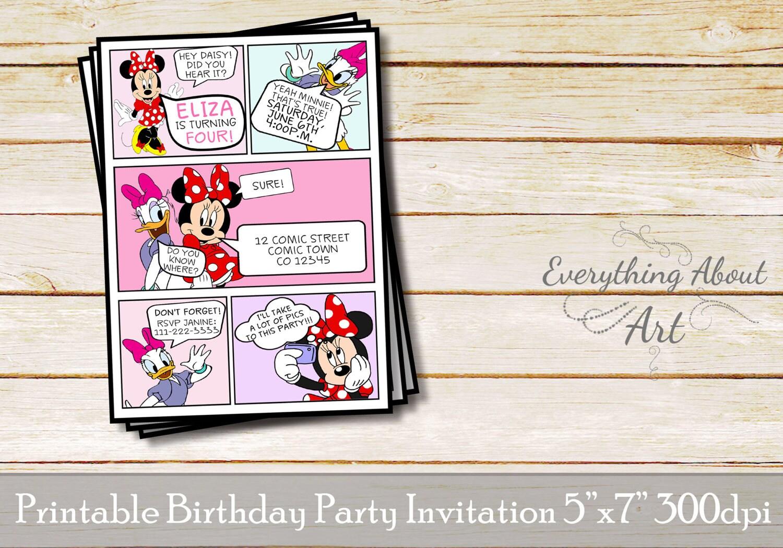 Minnie invitation Minnie birthday Minnie and Daisy | Etsy