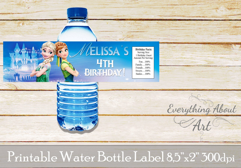 Gefrorenes Wasser Flaschen-Etikett gefrorene Geburtstag | Etsy