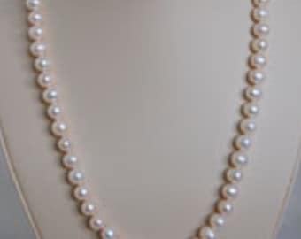08ea4a6bd Assorted Lengths - 9mm Freshwater Cultured Pearl Necklace With Heart Toggle