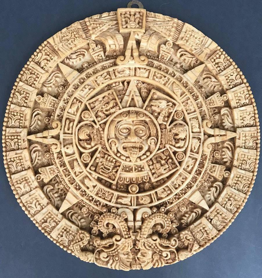 Reproduction Aztec Solar Calendar (3-4 Week Holiday Processing)