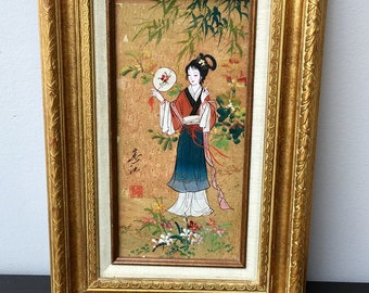 MOK Oriental Princess Oil on Cork