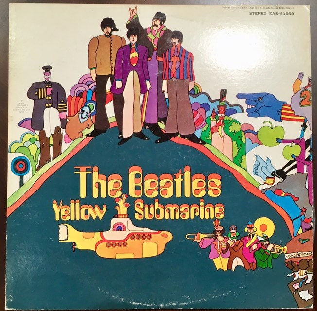 Vintage 1969 Beatles Yellow Submarine by Maclen Music made