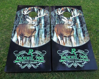 Remington Whitetail Corn Hole Boards - Bean Bag Toss Game