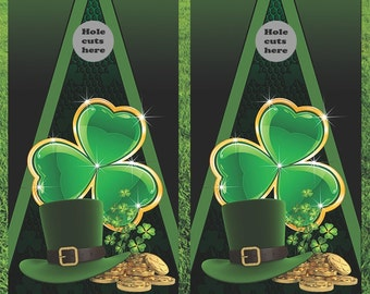Luck Of The Irish Corn Hole Boards - Bean Bag Toss Game
