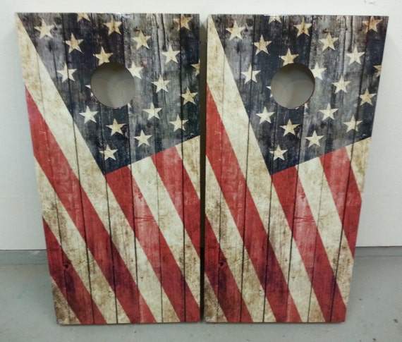 Awesome Old Glory Corn Hole Boards Bean Bag Toss Game With Bags Score Plate Magnets Ocoug Best Dining Table And Chair Ideas Images Ocougorg