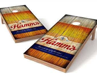 Hamm's Beer Corn Hole Boards 2 - Bean Bag Toss Game