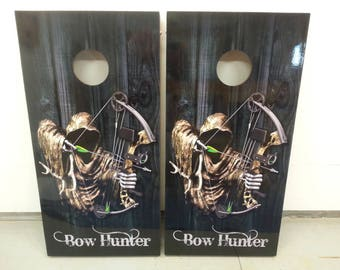 Bow Hunter Corn Hole Boards - Bean Bag Toss Game