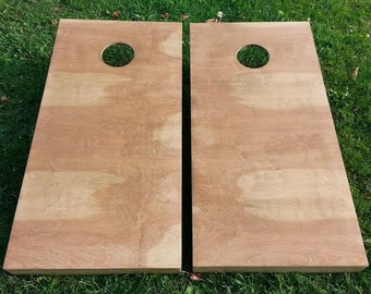 Stained (Driftwood Color) Corn Hole Boards - Bean Bag Toss Game