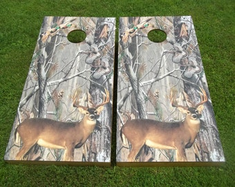 Whitetail Camo Corn Hole Boards - Bean Bag Toss Game