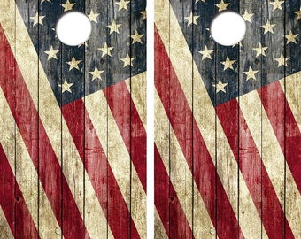 Old Glory Corn Hole Boards - Bean Bag Toss Game