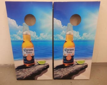 Corona Beer Corn Hole Boards - Bean Bag Toss Game