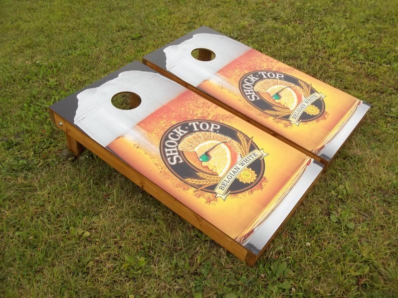 Shock Top Corn Hole Boards Bean Bag Toss Game