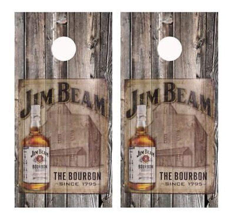 Jim Beam Corn Hole Boards Bean Bag Toss Game