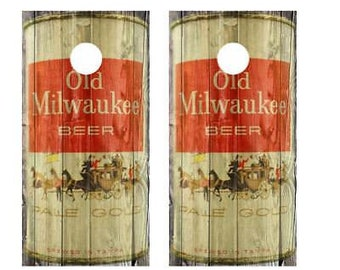 Old Milwaukee Beer Corn Hole Boards - Bean Bag Toss Game
