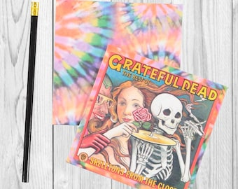 Writing journal, notebook, bullet journal, diary, sketchbook, blank - Grateful Dead - Journal / Sketchbook