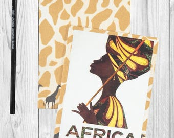 Travel journal, notebook, bullet journal, travel diary, sketchbook, blank - Africa - Sketchbook/Journal