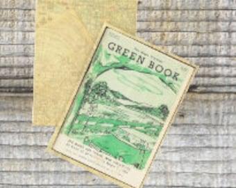 Writing journal, notebook, bullet journal, diary, sketchbook, blank - The Negro Motorist Green Book  -- Journal / Sketchbook