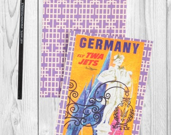 Travel journal, notebook, travel diary, diary, sketchbook, blank - Germany -- Journal / Sketchbook