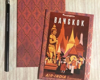 Travel journal, notebook, travel diary, diary, sketchbook, blank - Bangkok -- Journal / Sketchbook