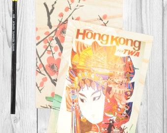 Travel journal, notebook, travel diary, diary, sketchbook, blank - Hong Kong -- Journal / Sketchbook